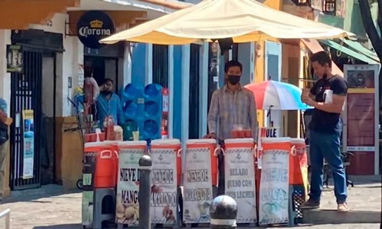Vendedores de helados en Centro Histórico presentan baja en ventas por pandemia