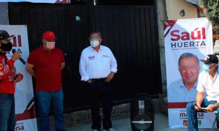 Detienen a Saúl Huerta candidato de Morena que busca la reelección como diputado federal en Puebla