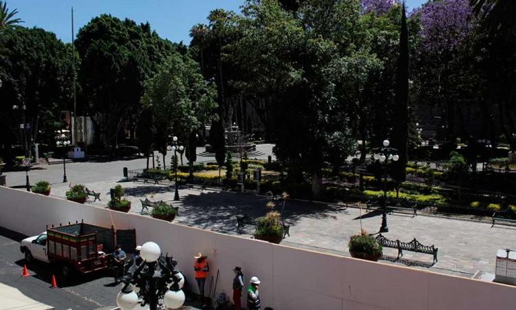 Obras del Centro Histórico de Puebla congeladas y sin fechas de culminación