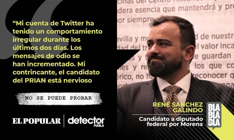 No se puede probar que Riestra sea responsable de las agresiones digitales a René Sánchez