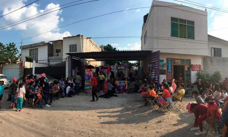 """""""En el Distrito 11 no necesitamos diputado federal"""", dicen vecinos en convivio por el Día del Niño en Puebla"""