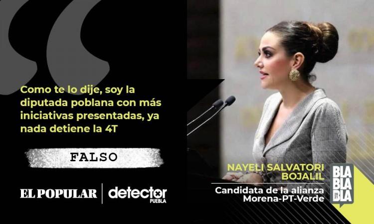 Falso que Nay Salvatori sea la diputada poblana con más iniciativas presentadas