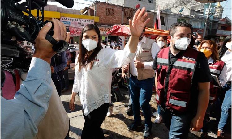 """""""Quien opere en mi contra son la oposición"""", exhorta Claudia Rivera a Biestro"""