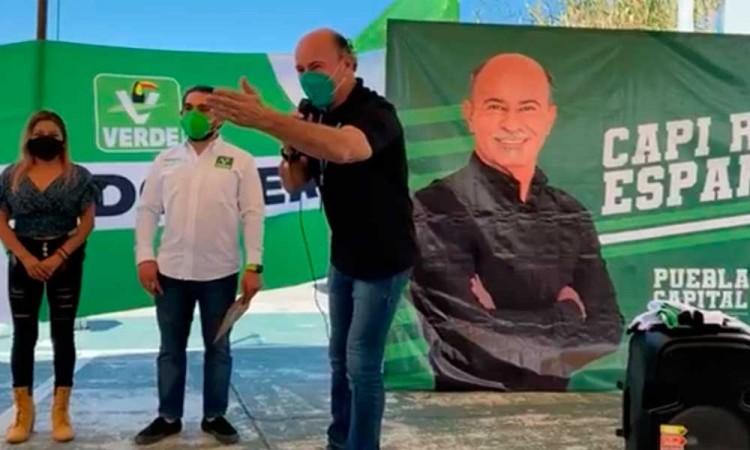 Roberto El Capi Esparza promete sacar a la delincuencia de Puebla