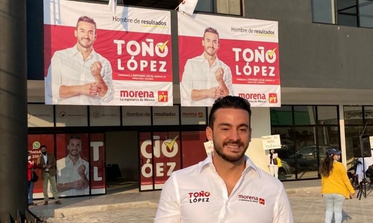 Toño López, inicia rally por el distrito 20 de Puebla capital, y comienza su carrera por la diputación local