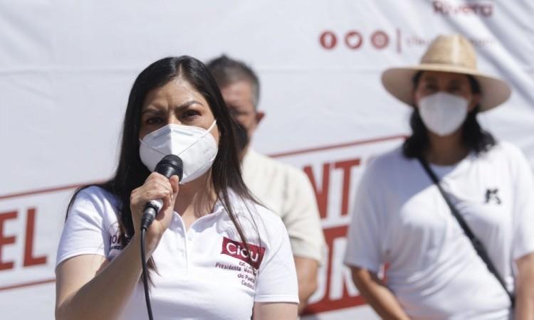 Convoca Claudia Rivera a Barbosa permitir ya las obras del Centro Histórico