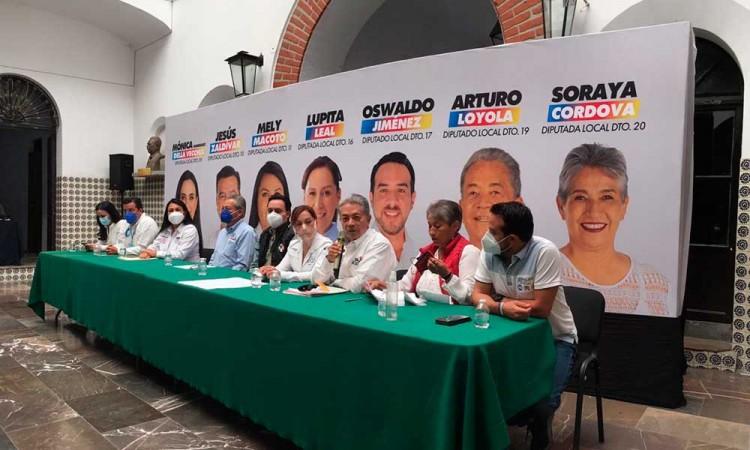 """""""El aborto no está en nuestra agenda"""", dicen candidatos del PAN-PRI-PRD en Puebla"""