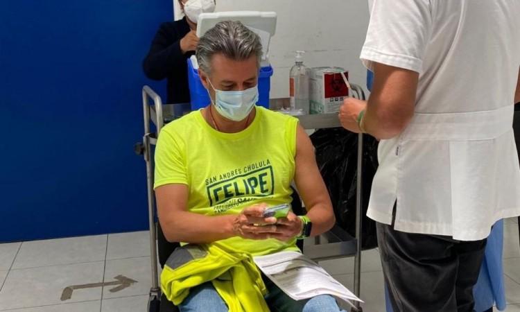 Engañoso que Felipe Sandoval pueda comprar vacunas contra COVID-19 si es electo presidente municipal de San Andrés Cholula