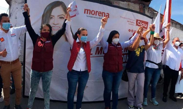 Falso que haya recibido recursos de empresarios para campaña de 2018, dice Claudia Rivera