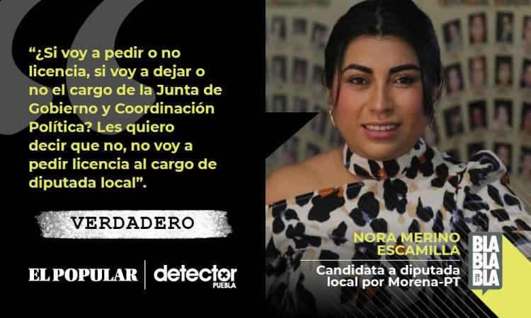 Nora Merino puede ser diputada y candidata al mismo tiempo por falta de claridad en las reglas de reelección