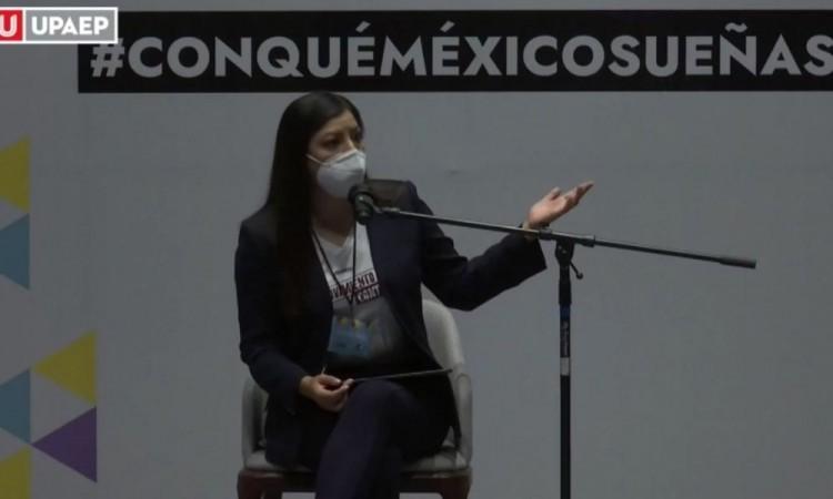 ¿Candidata, por qué darle continuidad a su proyecto?, le cuestionan alumnos Upaep a Claudia Rivera