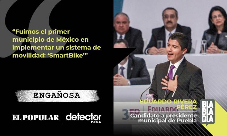 Engañoso que Puebla haya sido el primer municipio donde se implementó Smartbike