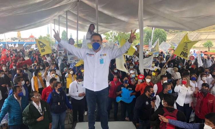 Humberto Aguilar asegura habrá democracia con triunfo de candidatos de alianza Va Por México