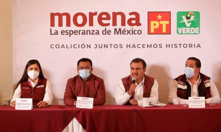 Piden Consejeros de Morena a Barbosa no inmiscuirse en la elección en Puebla