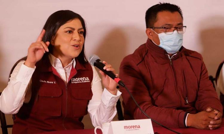 Próximo 6 de junio los poblanos tendrán 2 opciones: privatización o recuperar recursos, dice Claudia Rivera