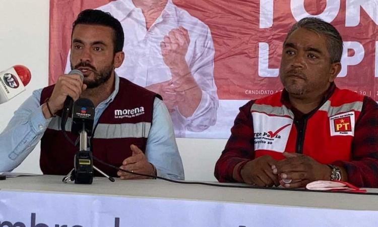 Toño López candidato por la diputación local del distrito 20 y su equipo de trabajo sufren agresiones en recorrido
