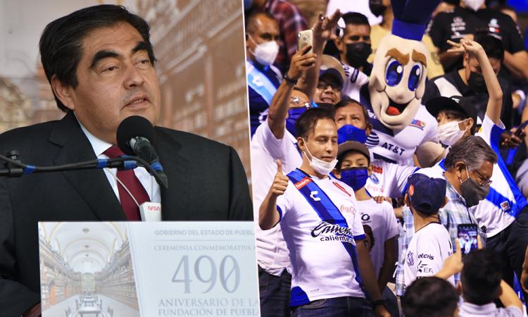 Autoriza el Gobernador Miguel Barbosa aforo del 50 por ciento en el Estadio Cuauhtémoc