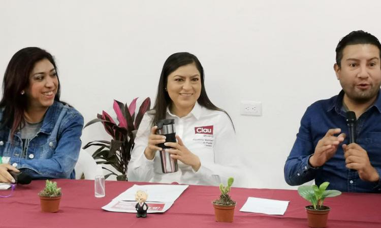 Denuncia de RSP en mi contra es porque no tienen propuestas, responde Claudia Rivera