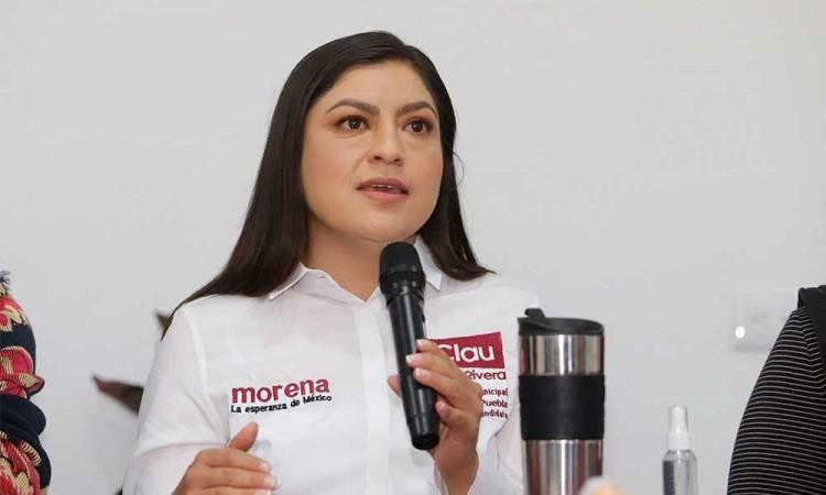 Insiste Claudia Rivera en la realización de un debate y pide a funcionarios estatales equidad