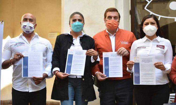 Solo cuatro candidatos a la alcaldía de Puebla firman políticas de igualdad entre géneros  y comunidad LGBT+