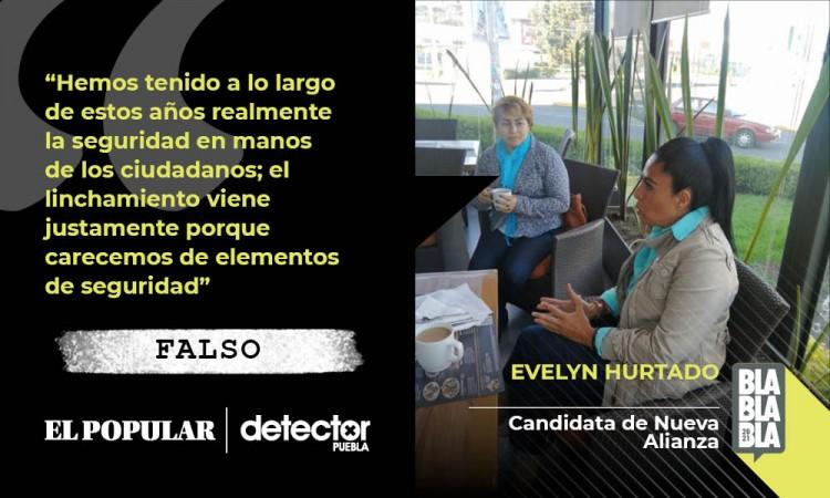 Falso que en el municipio de Puebla la seguridad esté en manos de los ciudadanos como dijo Evelyn Hurtado