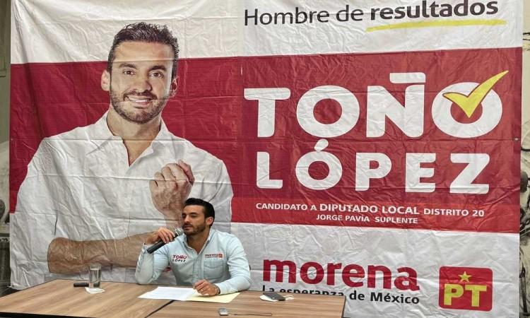 Las encuestas mencionan y confirman que este 6 de junio saldremos victoriosos: Toño López