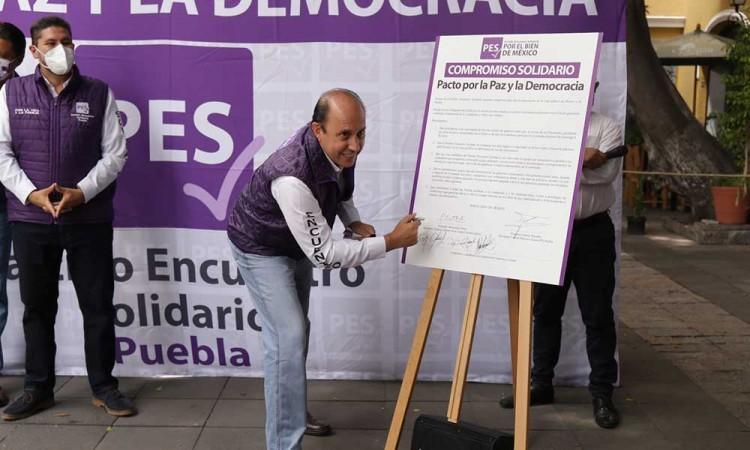 Pide Fernando Manzanilla del PES se legisle un protocolo para promover la seguridad en los comicios en Puebla