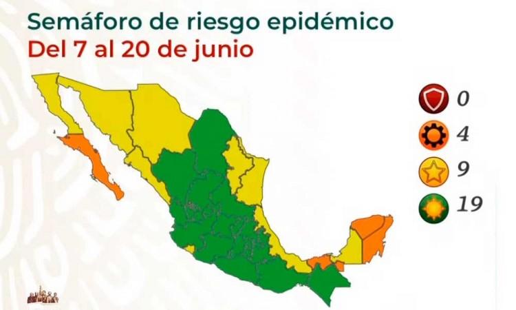 Semáforo COVID-19: Puebla se encuentra dentro de los 19 estados en verde