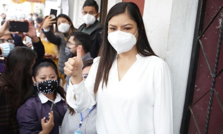 Confía Claudia Rivera en que será una elección pacífica