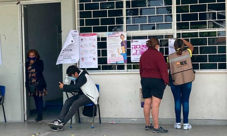 Transcurre con tranquilidad la jornada electoral en casillas de la zona norte de la capital poblana
