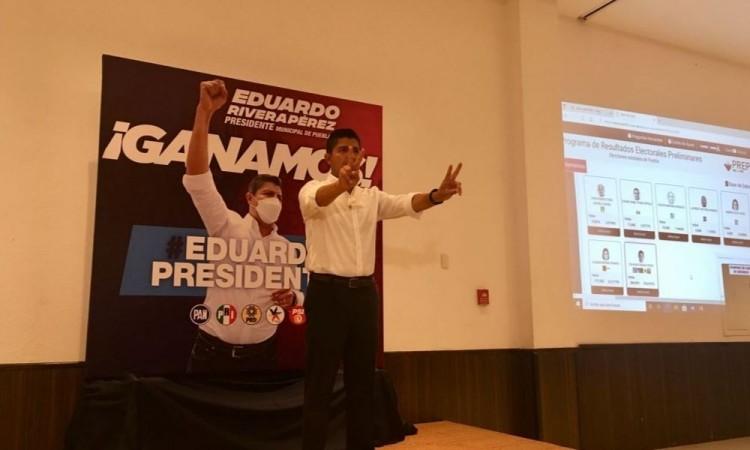 Sin revanchas, pero denunciaremos alguna anomalía en gestión de Claudia Rivera, advierte Eduardo Rivera