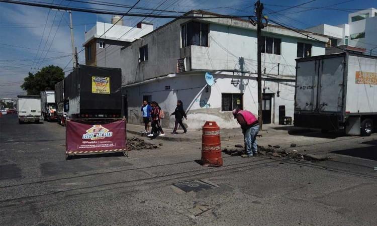 El Bachero del Ayuntamiento de Puebla pone en marcha la fase 2 de mantenimiento de vialidades