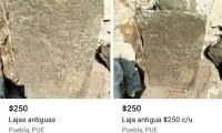 Rematan en Facebook supuestas lajas del Zócalo de Puebla