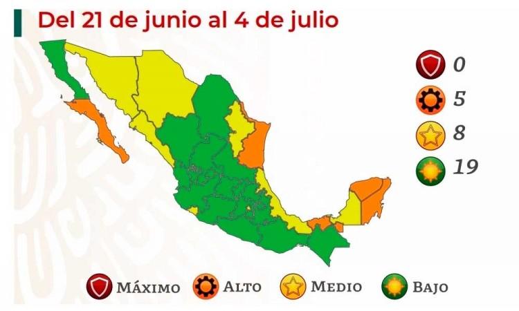 Semáforo COVID-19: Puebla permanece en verde y CDMX regresa a color amarillo tras repunte de contagios
