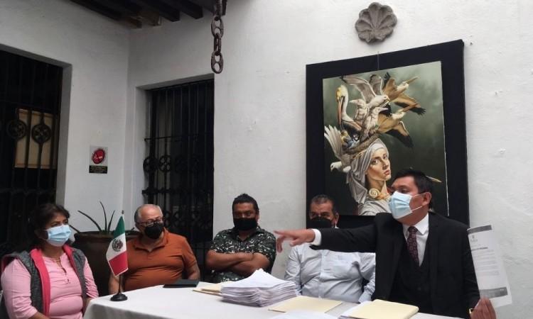 Denunciarán penalmente locatarios de Amalucan a Claudia Rivera y funcionarios