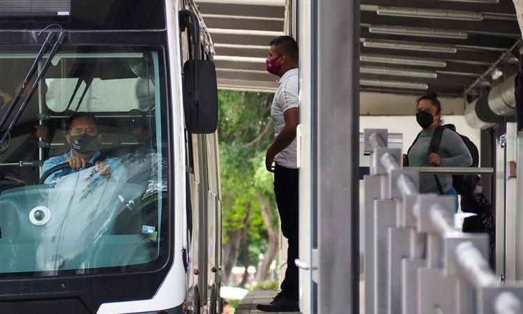 Se restablece la seguridad privada en paraderos del RUTA en Puebla
