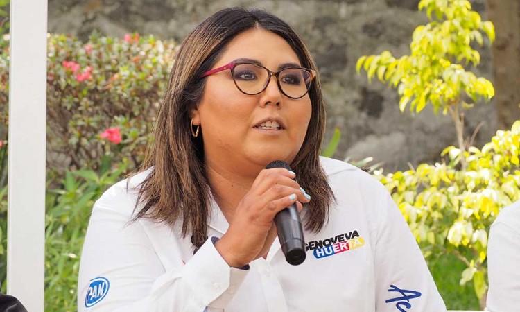 """Defiende Genoveva Huerta """"premios de consolación"""" a excandidatos perdedores y niega reelección"""