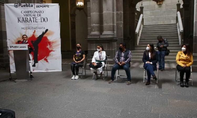 Reconoce Ayuntamiento de Puebla al talento poblano del Campeonato Virtual de Karate Do