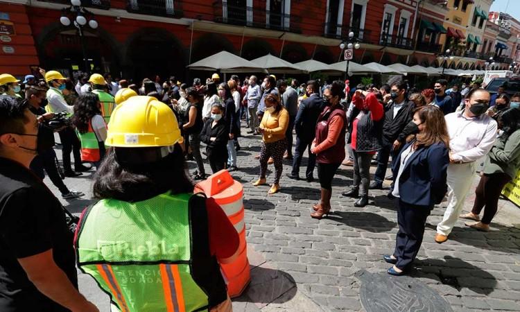Reporta PC municipal saldo blanco en edificios del Centro Histórico de Puebla tras sismo