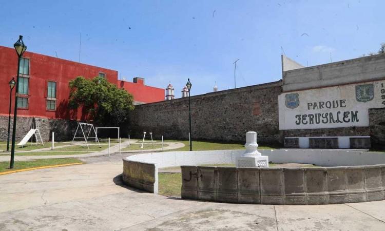 Ayuntamiento de Puebla rehabilita calle 9 Oriente y Parque Jerusalem