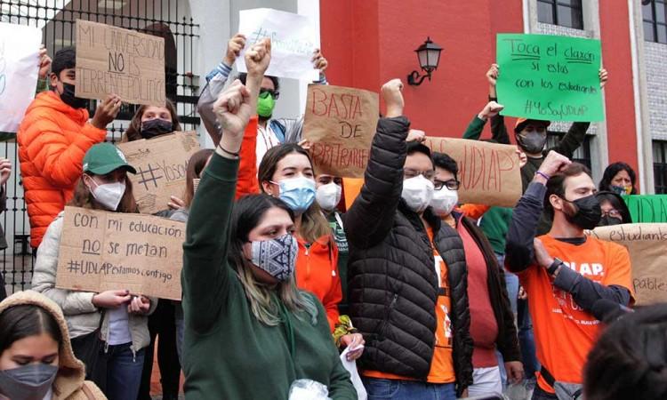 Consejero Udlap pide diálogo a Barbosa o convocarán a marchas estudiantiles