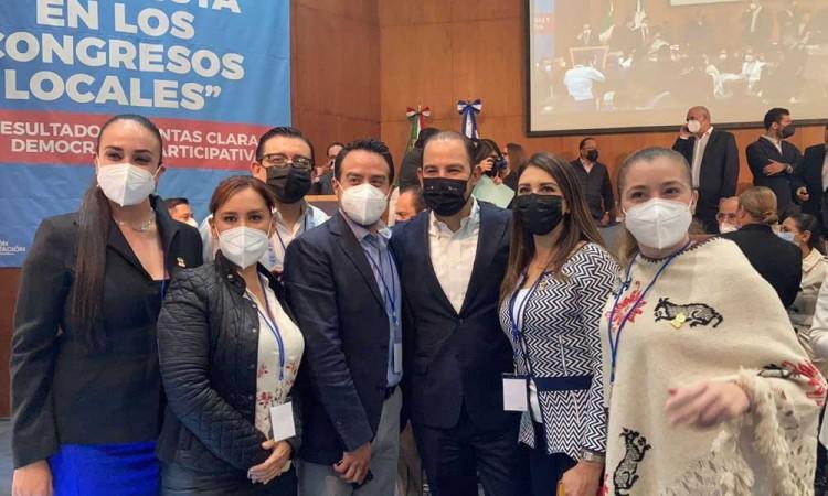 Ante Marko Cortés, se comprometen diputados electos locales del PAN impulsar políticas a favor de Puebla