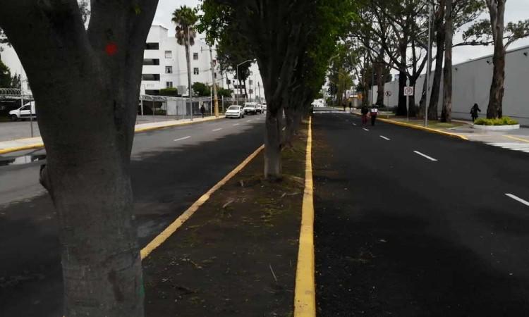 Relamina Ayuntamiento de Puebla avenida en la zona Sur- Poniente de la ciudad