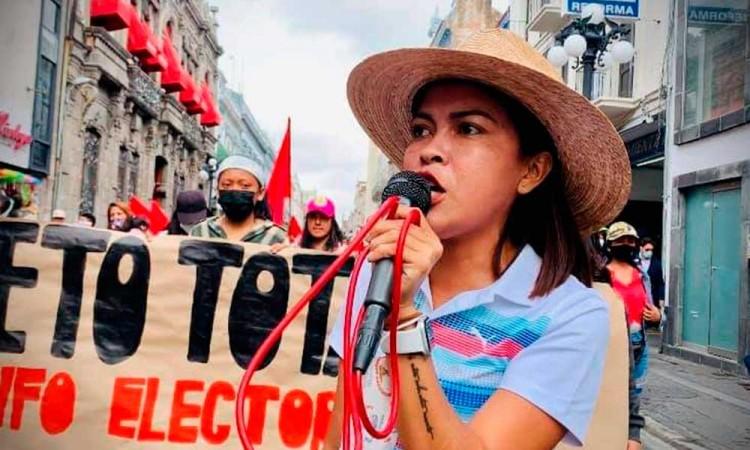 Protestan en Puebla contra impugnaciones en Ocoyucan y Huitzilan