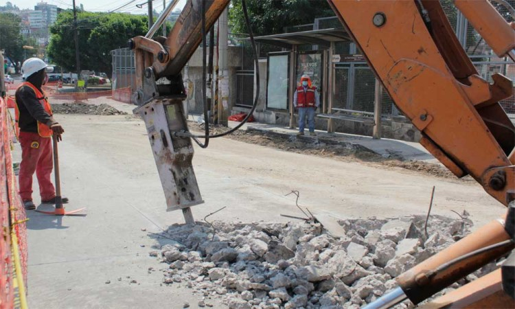 Rehabilitacion de zona de peatones en la Margarita