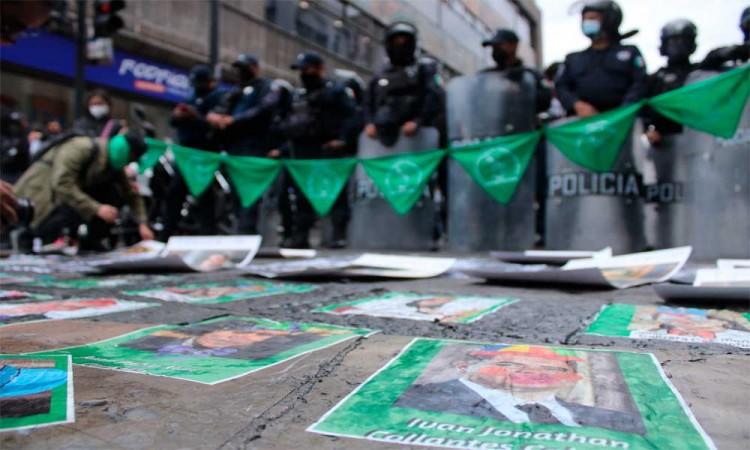 Protestas en el Congreso del Estado