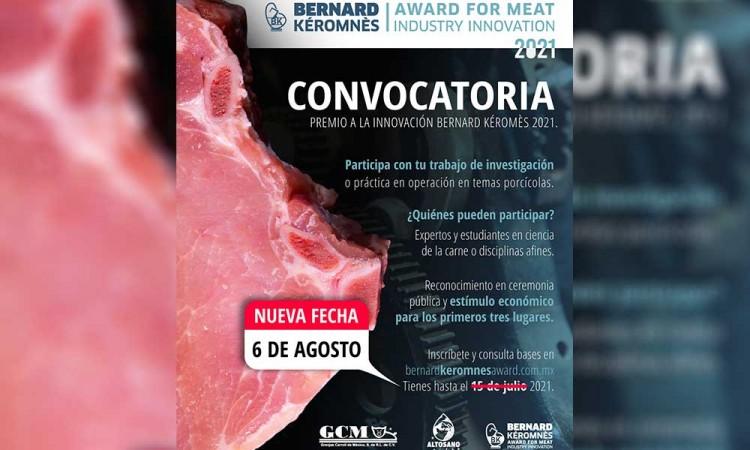 Extienden fecha para participar en el Premio a la Innovación Bernard Kéromnès, organizado por Granjas Carroll de México