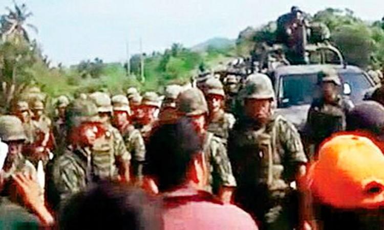 Agreden a convoy del Ejército en Palmar de Bravo