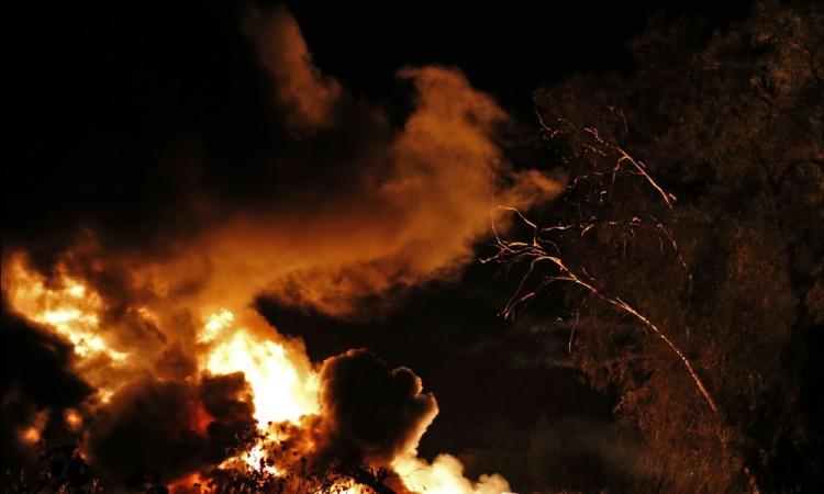 Arden pastizales en la Puebla-Orizaba