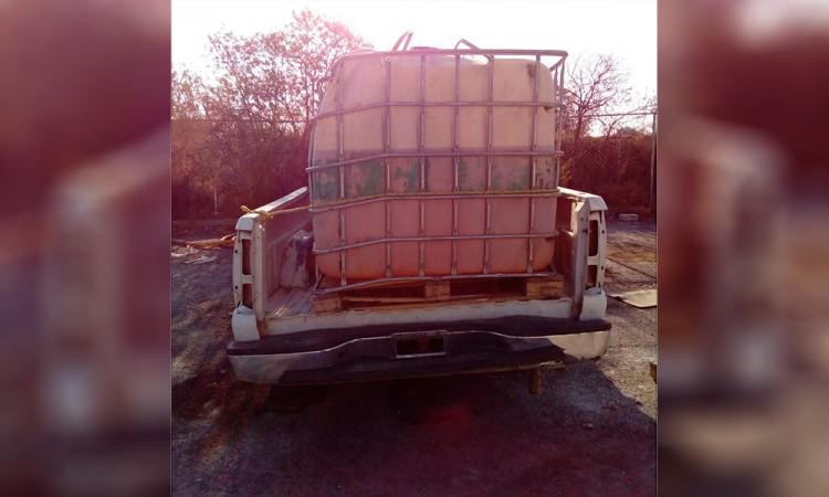 Recuperan más de 10 mil litros de combustible robado
